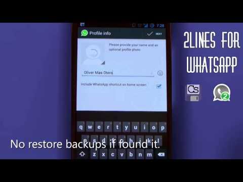 2 Whatsapp en el mismo m�vil