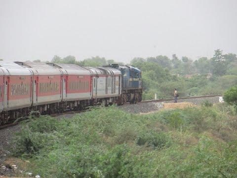 New Delhi-Ahmedabad Swarna Jayanti Rajdhani Express: Full Journey Compilation