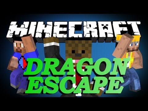 BRAND NEW Minecraft DRAGON ESCAPE Minigame w VikkStar123 and CharlieBuilds