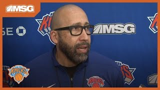 David Fizdale Likes Progress From Knicks in Training Camp | New York Knicks