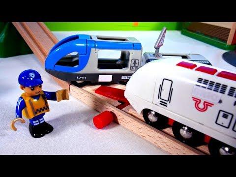 Развивающие мультики - Остров поездов Брио: Паровозики встретились