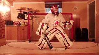 Goalie Gab 7 years old synthetic ice
