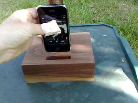 Old-Timey iPhone Dock