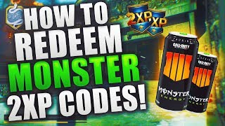HOW to REDEEM DOUBLE XP CODES for BLACK OPS 4