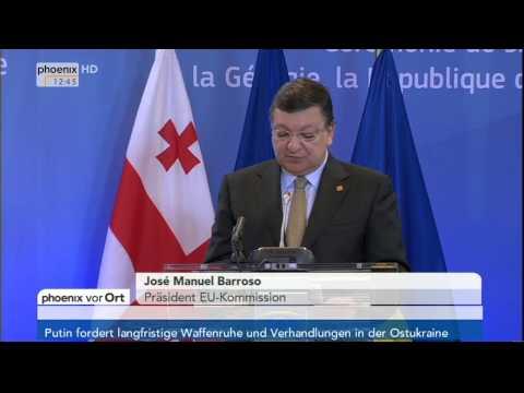 Ukraine-Krise - Van Rompuy, Barroso & Poroschenko zum Assoziierungsabkommen am 27.06.2014