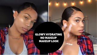 NO MAKEUP MAKEUP LOOK - GLOWY HYDRATING WINTER SKIN | Briana Monique'