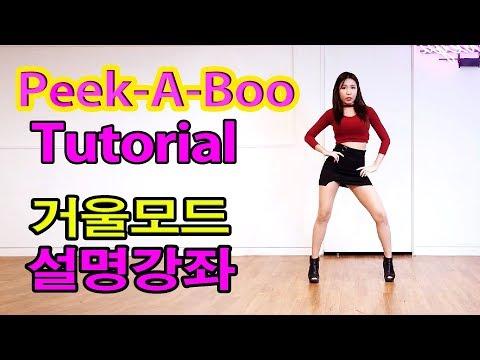 Red Velvet 레드벨벳 Tutorial Mirrored 피카부 안무 Peek-A-Boo 거울모드 설명강좌 WAVEYA