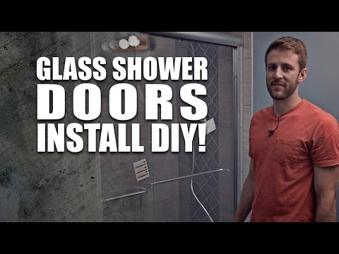 sliding glass shower doors Install - DIY DORKZ Season 01 Ep. 06