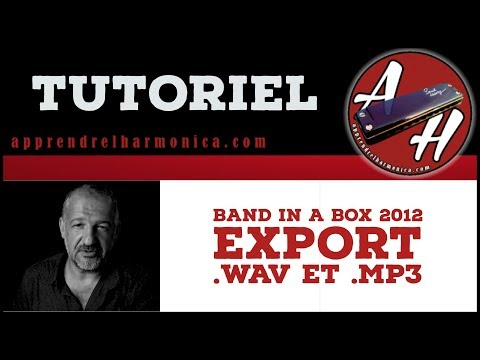 Tutoriel - Band in a box - Export .wav et .mp3
