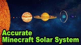 Accurate Minecraft Solar System Planet Size Comparison