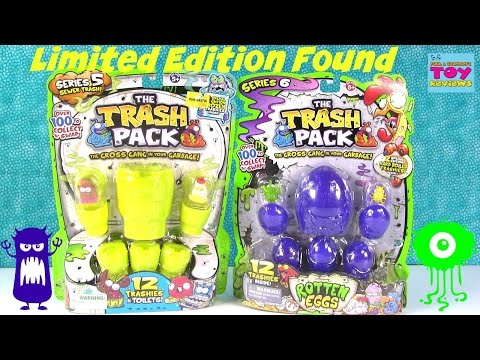 Trash Pack Trashies LIMITED EDITION Found   Series 5 & 6 Opening   PSToyReviews