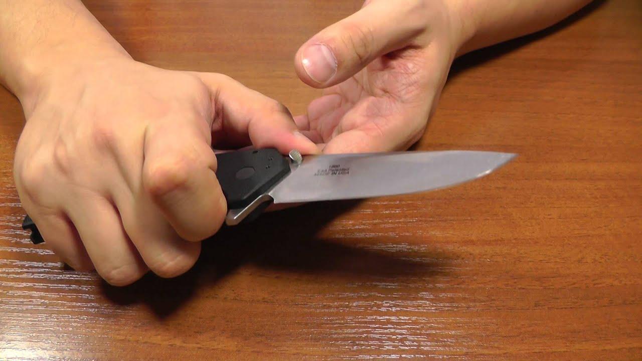 Как сделать из обычного ножа складной