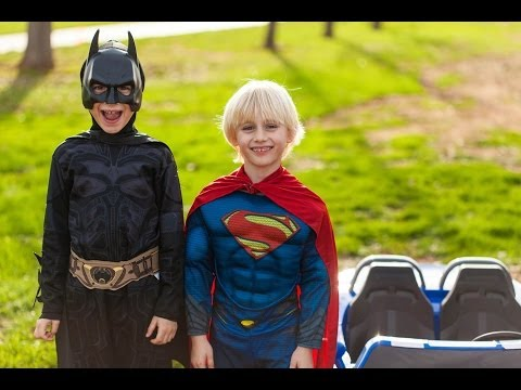 Batman vs Superman Power Wheels Race