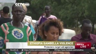 Violence was sparked after an NGO car ran over two children in Ethiopia