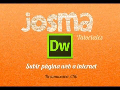 Subir página web a Internet . Dreamweaver