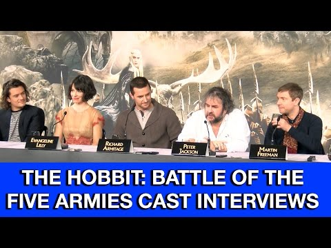 The Hobbit 3: The Battle Of The Five Armies Cast Interviews - Martin Freeman, Richard Armitage