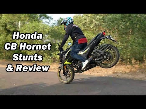 Honda CB Hornet 160r Stunts & Review