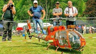 GIANT RC SA-341/342 GAZELLE SCAE MODEL TURBINE HELICOPTER DEMO FLIGHT DEMONSTRATION