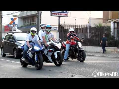 Superbikes Sounds: Suzuki, BMW, Kawasaki, Yamaha & Honda Accelerating and Wheelies - Bikers 47