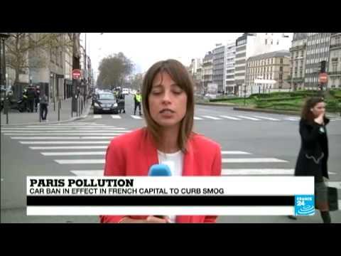Paris restricts car use to combat dangerous pollution levels