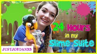 24 HOURS In My BOX FORT SLiME SUiTE / JustJordan33