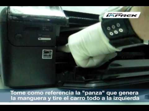 Instalación de sistema continuo en impresora Hp D110. F4480. C4780. 2050. 3050