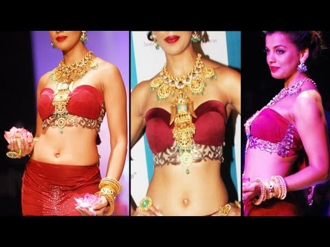 Hot Beauty Mughda Godse In Sexy Red Ghagra Choli Exposing Juicy Figure Hot