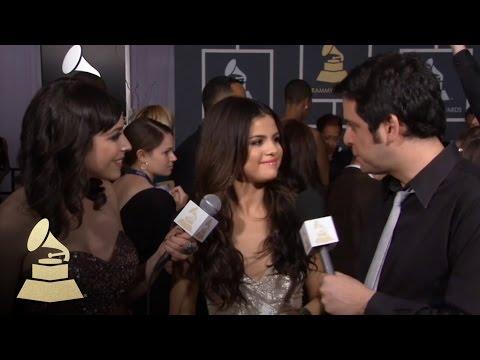 Selena Gomez on the 53rd Annual GRAMMY Awards red carpet | GRAMMYs thumbnail