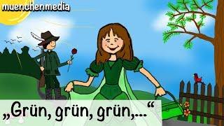 Kinderlieder deutsch - Grün, grün, grün sind alle meine Kleider