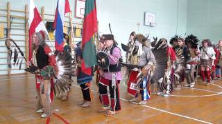 Pow-wow, Moscow, 2012. Grand Entry. Открытие.
