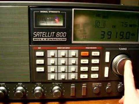 Grundig Satellite 800 Radio Surfing 75 meter ham band