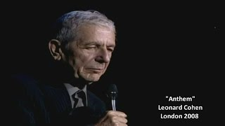 Download Song Leonard Cohen - Anthem (w/lyrics) London 2008 Free StafaMp3