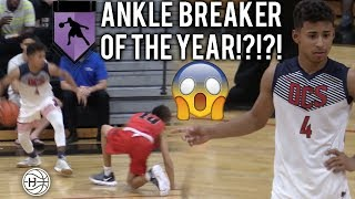 Julian Newman INSANE ANKLE BREAKER!!! Drops 25 vs THE ROCK!!!!