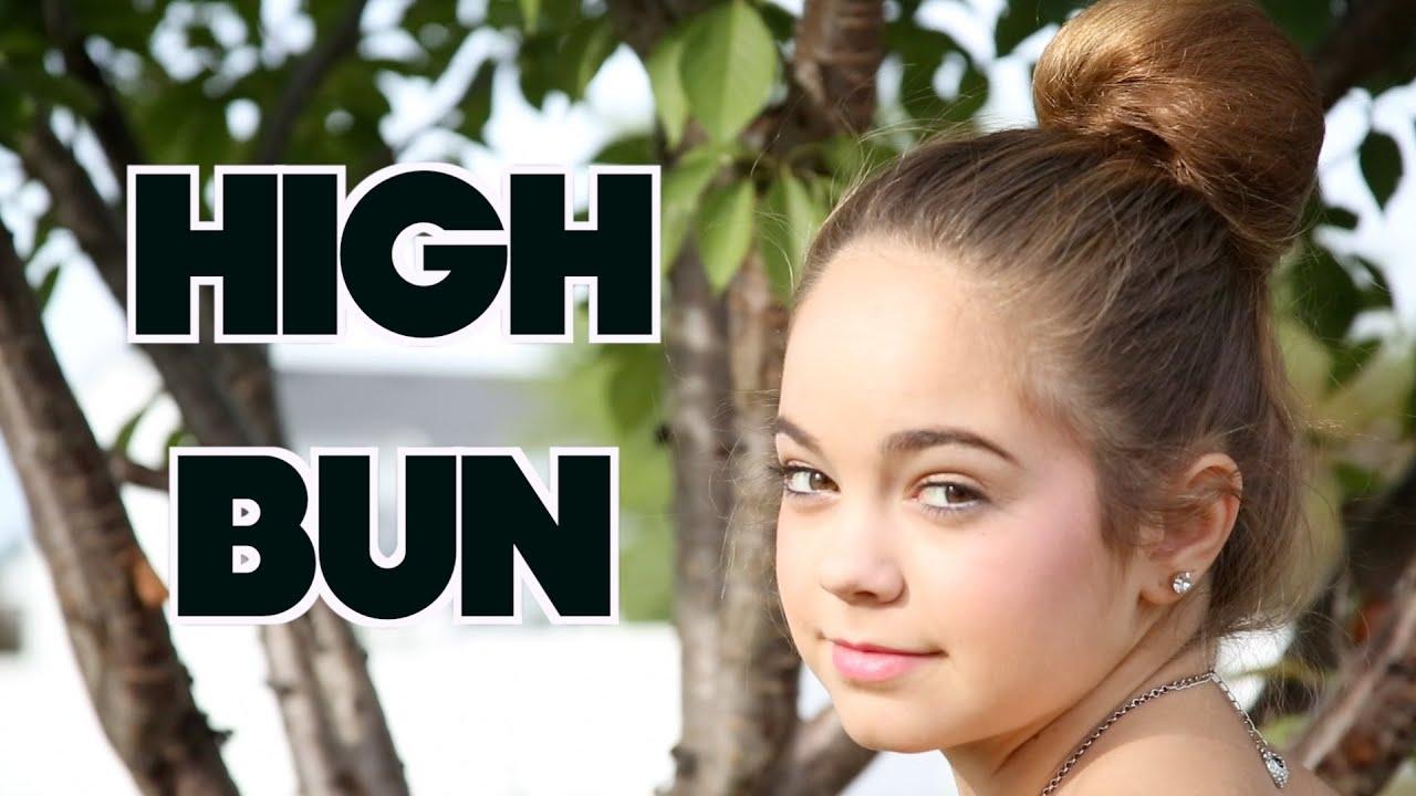 Easy High Bun! - YouTube