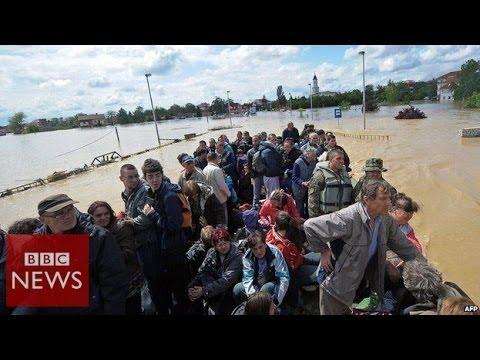 'Worst floods' since records began in Serbia & Bosnia - BBC News