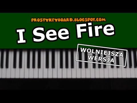 I See Fire - Tutorial - Keyboard / Klawisze - Wolniejsza Wersja. Hobbit.