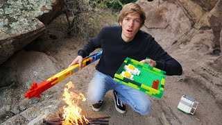 Surviving Using Only LEGO Survival Tools!