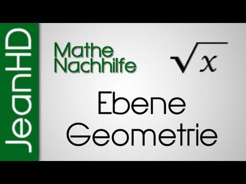 Mathe Nachhilfe - Ebene Geometrie