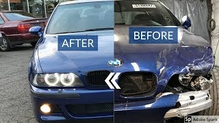 E39 M5 Wrecked Project (BEFORE & AFTER) Repair