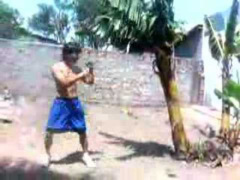 MUAY THAI primitive training.