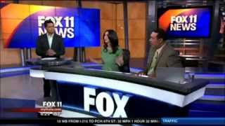 March 17, 2014 - Los Angeles 4.4 Earthquake Shakes the FOX 11 Studio Live On Air