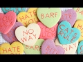 Anti-Valentine's Day Conversation Heart Cookies - Easy Colored Cookie Dough Project