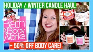Bath & Body Works Holiday Winter Candle Haul and Fall 50% OFF Sale 2018 | MissGlamBAM