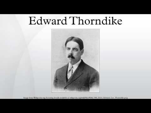 character profile of e l thorndike