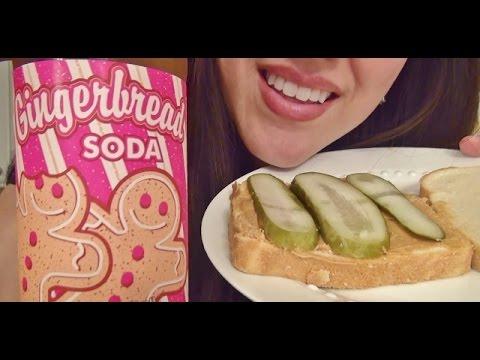 eating sounds peanut butter pickle sandwich gingerbread soda youtube. Black Bedroom Furniture Sets. Home Design Ideas