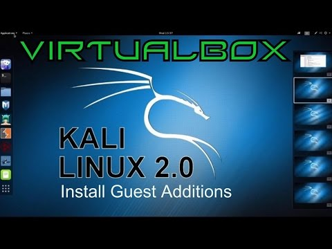 Kali 2.0 - VirtualBox Guest Additions Install