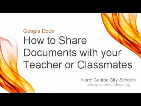 Google Docs: How to Share Google Docs with Teachers and Classmates