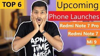 Upcoming Smartphone Launches in India, Redmi Note 7 Pro, Samsung M30, Vivo V15 Pro, xiaomi Mi 9