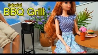 How to make a doll barbecue grill for Barbie, Monster High, Frozen, EAH, etc