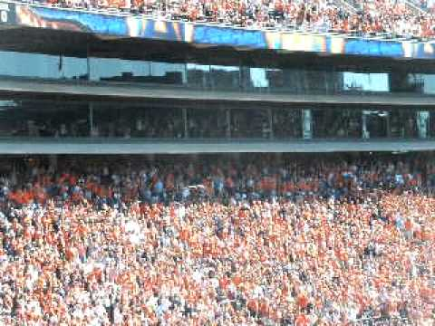Auburn Pregame Eagle Flying over stadium - Auburn vs. Arkansas 2010